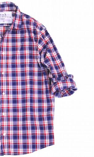 新しいチェックシャツ