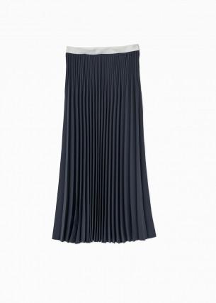 グラフペーパー のプリーツスカート