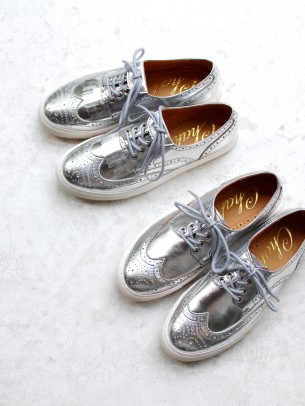 Silver Color Shoes