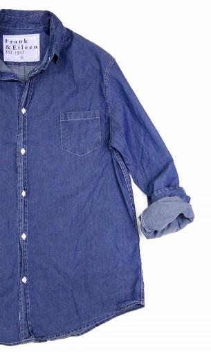 秋のインディゴカラーシャツ