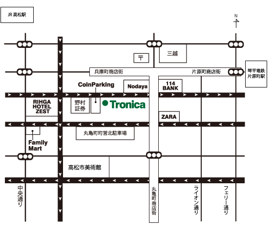 Tronica Map